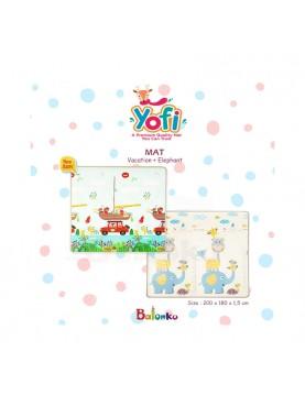 Playmat Yofi Vacation + Elephant & Alphanumeric + Dinosaurs