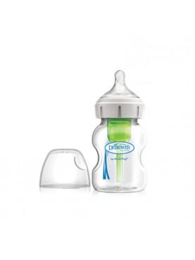 "5oz / 150ml Glass Wide-Neck ""Options+"" Baby bottle, 1- Pack / Botol Susu"