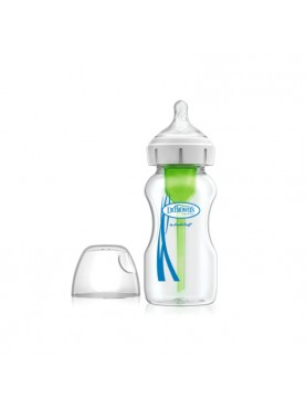 "9oz / 270ml Glass Wide-Neck ""Options+"" Baby bottle, 1- Pack / Botol Susu"