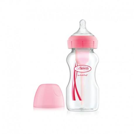 """9oz / 270ml PP Wide-Neck """"Options+"""" Baby bottle, 1- Pack / Botol Susu"""