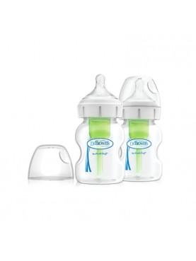 """5oz / 150ml PP Wide-Neck """"Options+"""" Baby bottle, 2- Pack / Botol Susu"""
