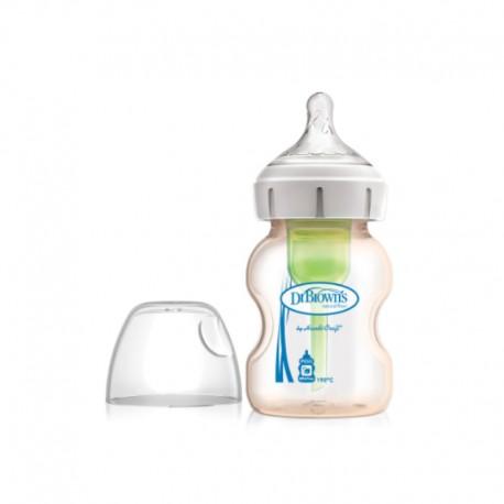"5 oz / 150 ml PESU Wide-Neck ""Options+"" Baby Bottle , 1-Pack / Botol Susu"