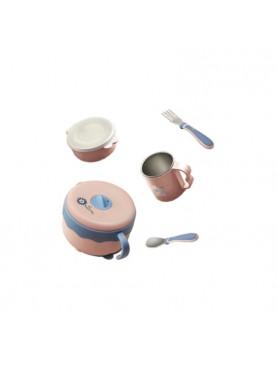 Babycare Water Heating & Cooling Bowl Set 5-IN-1 / Perlengkapan Makan Anak