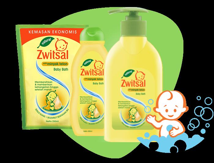 Zwitsal Natural Baby Bath with Minyak Telon