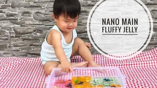 Melatih Motorik Anak dengan DIY Fluffy Jelly