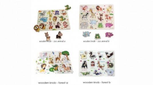 Puzzle Knob Untuk Anak Usia 1.5 - 2.5 Tahun