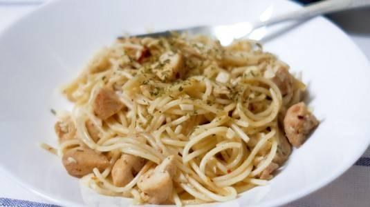 Resep Spaghetti Aglio Olio Chicken