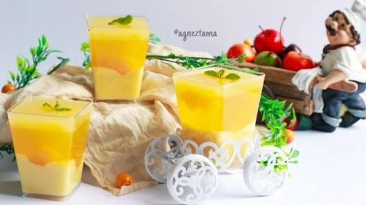 Orange Yoghurt Pudding, Dessert Berbahan Yoghurt Kaya Manfaat