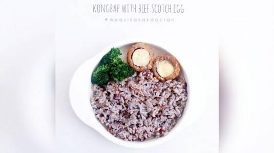 Resep MPASI Kongbap with Beef Scotch Egg (12M+)
