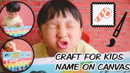 Craft for Toddlers Tape Resist Name | Mengisi Waktu Liburan Sekolah Anak