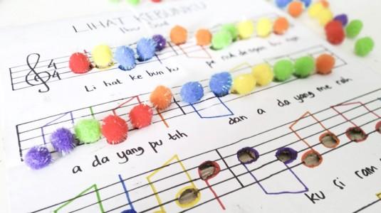 Ide Bermain untuk si Kecil: Colorful Musical Notation