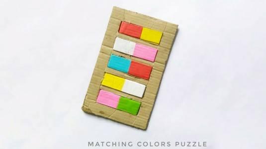 Ide Bermain Anak 12M+: DIY Matching Colours Puzzle
