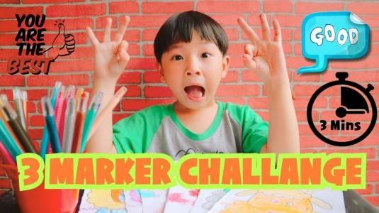 Activity for Toddler: 3 Marker Challenge