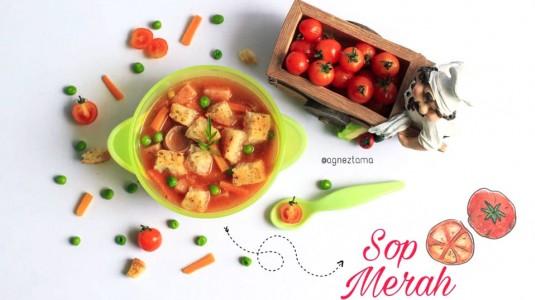 Sop Merah, Sajian Berbahan Sari Tomat yang Kaya Vitamin A & Vitamin C