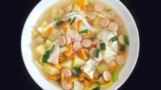 Resep Sup Sosis Super Gampang
