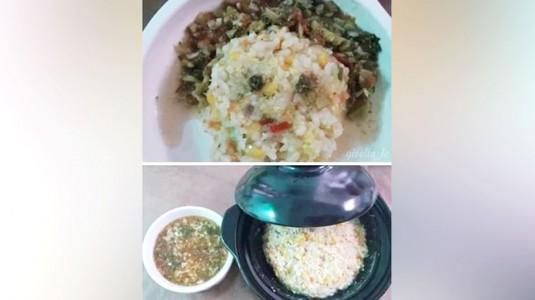 MPASI Vegetarian: Nasi Tim Wortel Jamur Jagung + Kuah Brokoli Tomat