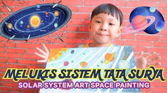 Aktivitas Anak: Melukis Sistem Tata Surya