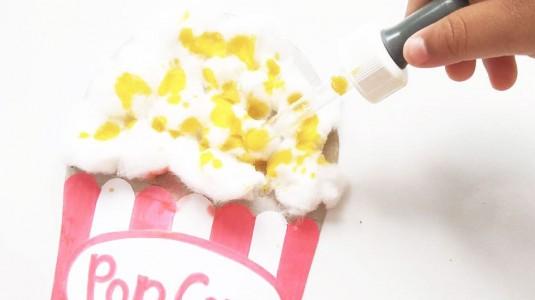 Ide Bermain Anak - Cotton Balls Popcorn