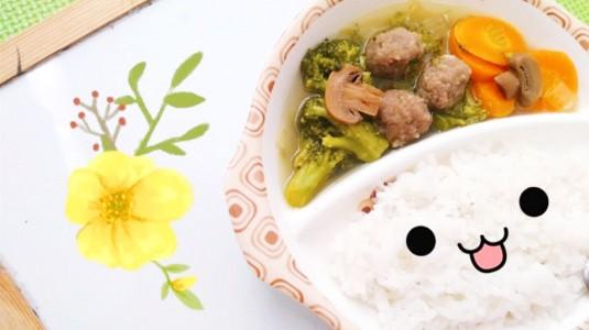 MPASI Meatball with Mushroom Vegetable