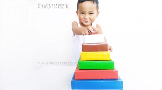 Ide Bermain Anak - DIY Menara Persegi
