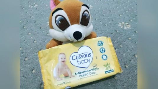 Cusson Baby Antibacterial Wipes Protect Care, Tisu Basah Multifungsi