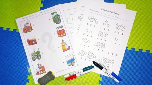 Membuat Worksheet Wipe & Clean Untuk Si Kecil