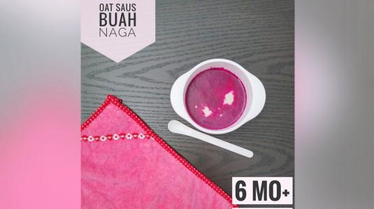 Snack Pendamping MPASI: Oat Saus Buah Naga