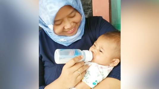 Bayi Tidur dengan Nyaman Setelah Menyusu Karena Botol Anti Kolik