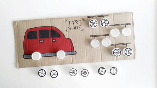 Ide Bermain untuk si Kecil: DIY Car Tyre Change