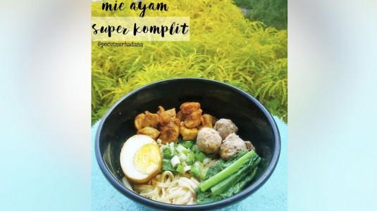Mie Ayam Sehat Super Komplit