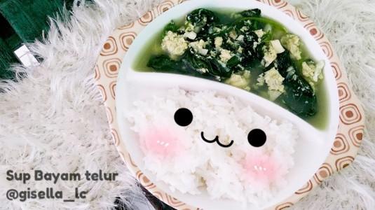Resep Sup Bayam Telur untuk si Kecil