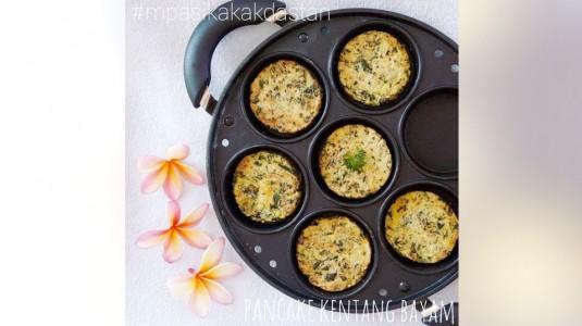 Resep MPASI Pancake Kentang Bayam (12M+)
