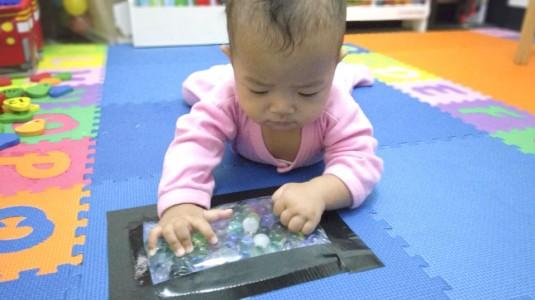 Sensory Play For Baby: Water Beads Sensory Bag
