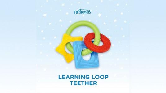 Meredakan Nyeri Tumbuh Gigi dengan Dr. Brown's Learning Loop Teether