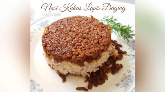 Nasi Kukus Lapis Daging