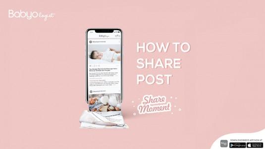 Babyo App: Cara Share Moment