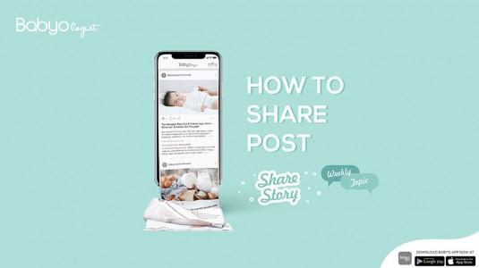 Babyo App: Cara Share Story - Weekly Topic