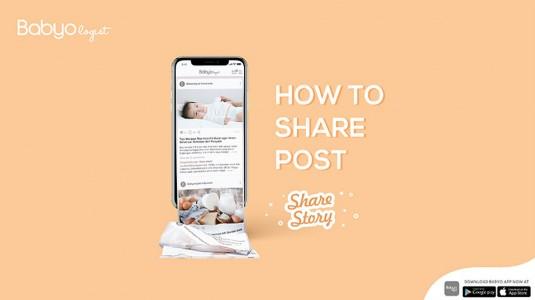 Babyo App: Cara Share Story