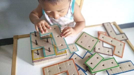 Ide Bermain untuk si Kecil: Square Puzzle