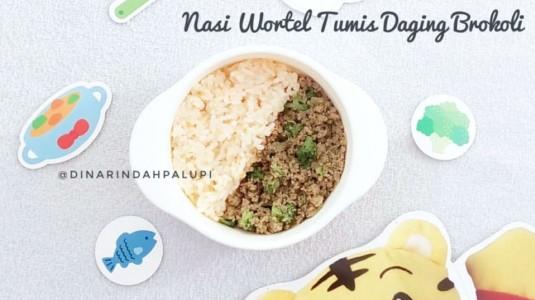Resep MPASI Nasi Wortel Tumis Daging Brokoli (12M+)