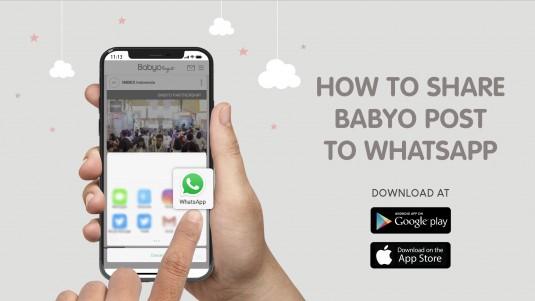 How to Share Babyo Post to WhatsApp