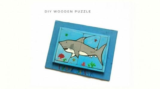 DIY Daddy Shark Wooden Puzzle