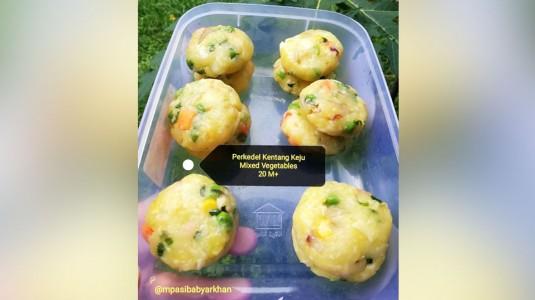 Perkedel Kentang Keju Mixed Vegetables (20M+)