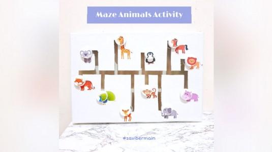 DIY Mainan Edukatif: Maze Animals Activity