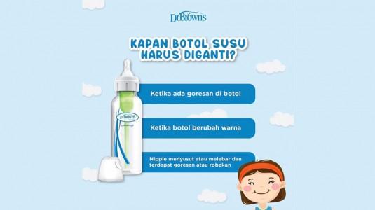 Kapan Waktu yang Tepat untuk Mengganti Botol Susu?