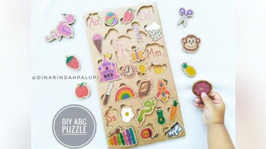 Ide Bermain Anak - DIY ABC Puzzle