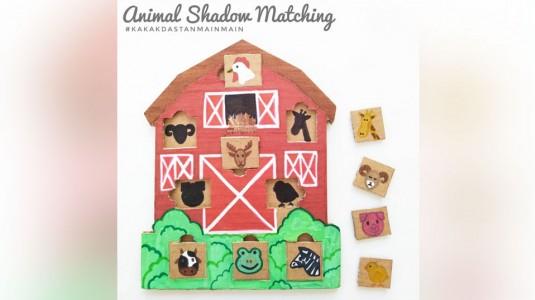 Ide Bermain Anak - Animal Shadow Matching