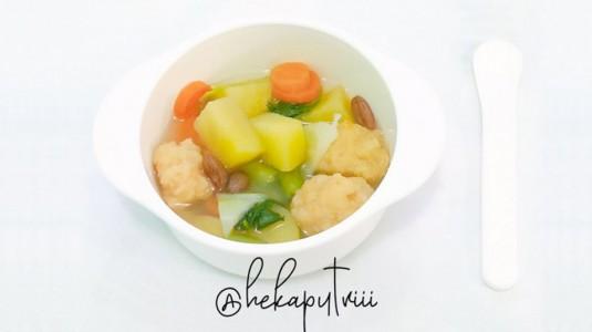 Resep MPASI: Sup Bakso Udang (7M+)