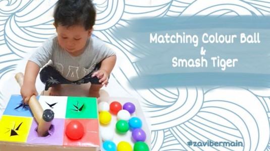 Ide Bermain - Matching Colour Ball & Smash Tiger