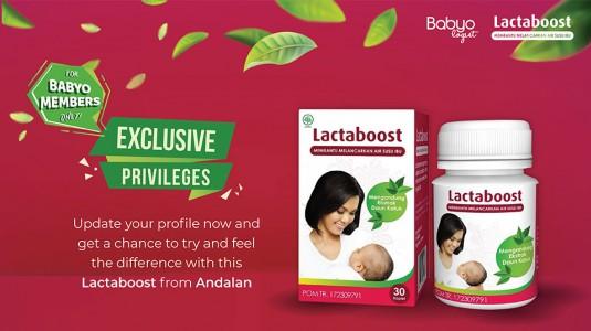 Exclusive Privilege: Lactaboost Andalan Nutrisi